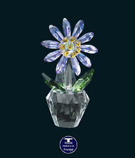"[X'MAS OFFER] ""Amethyst Chrysanthemum"" Austrian Crystal Figurine was AU$58.00"