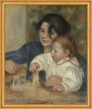 Gabrielle and Jean Pierre-Auguste Renoir Mutter Kind Baby Spielen B A1 03102