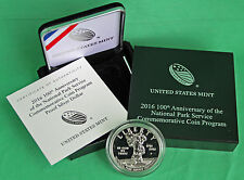 2016 100th Anniv National Park Service Proof Silver Dollar US Mint Box + COA $1