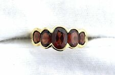 10Kt REAL Yellow Gold Oval Garnet Gemstone Gem Stone Ladies Ring EBS199R67