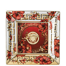"""VERSACE BY ROSENTHAL, GERMANY  """"CHRISTMAS BLOOMS"""" TRAY, 11 INCH, SQUARE, 2016"""