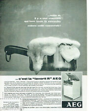 PUBLICITE ADVERTISING 115  1966   le lave-vaisselle FAVORIT R de AEG