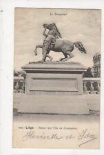 Liege Statue Sur l'Ile de Commerce 1909 U/B Postcard Belgium 676a