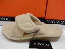 VIONIC ORTHAHEEL WOMENS SLIPPERS RELAX TAN SIZE 7