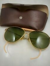 Vintage American optical aviator  sunglasses with case