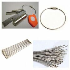 10PCS  Sell Tool Hiking Key Ring Cable Stainless Steel Wire Keychain