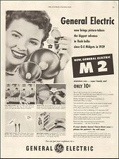 1954 vintage AD GE M 2 Camera Flash Bulb General Electric  071316