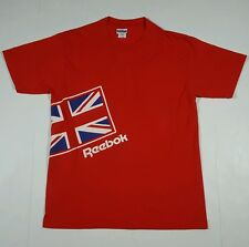 Vintage Reebok Men's XL Red T-Shirt Old School Made In USA X-Large Tee