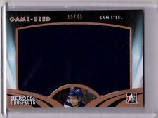 SAM STEEL 15/16 Leaf Prospects Jersey # 15/45 Rookie #GU-24 Game-Used Card