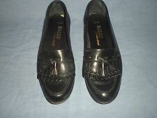 "Hand Made Bally Switzerland ""Logan"" Cordovan Leather Tassel Shoes Size 9 N"