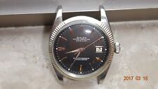 Genuine vintage Rolex datejust 6605 stainless steel black dial watch