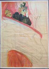 Farblithographie, Henri de Toulouse-Lautrec, cartel para 1930, 94cm x 68cm