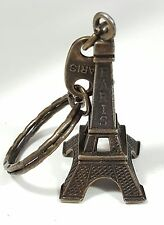 Bronze Tone Key Chain Key Ring Paris France Eiffel Tower Unique Design Beauti...