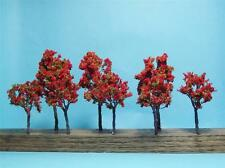 "Multi Scale Use-Nice Quality Red Fall Trees-2 Sizes 3 1/2"" & 2 3/4"" Tall-8 Pcs"