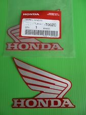 GENUINE Honda Wing Fuel Tank Decal Wings Sticker x 2 SILVER & RED *UK STOCK*