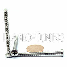 M4 x 50mm - Qty 10 - Stainless Steel Phillips Pan Head Machine Screws DIN 7985 A