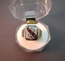 Civilian Conservation Corps CCC Insignia Ring Sterling Silver Initials Enamel 11