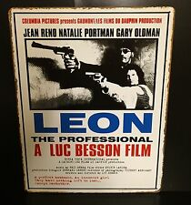LEON Classic Movie Poster Wall Decor Garage Metal Sign 30x40 Cm Cinema