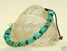 Armband Totenkopf Schädel Türkis Nepal Schmuck Asien s54