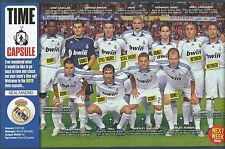 MOTD-POSTER 2015-REAL MADRID TEAM PHOTO 2007/08-TIME CAPSULE