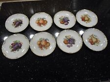 Antique RC Versailles Bavaria Porcelain Plates Fruit Nut Berry Gilded Set of (8)