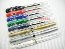 8 Colors Set x Uni-Ball Signo UM-153 1.0mm Broad Smooth Rollerball Gel Ink pen