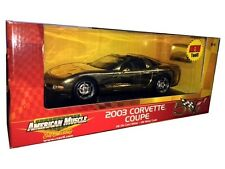 2003 CHEVY CORVETTE 50th ANNIVERSARY DIE CAST CHROME 1/18 BY ERTL 36833