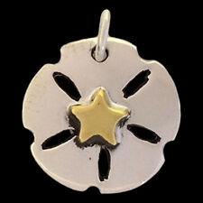 Sand Dollar Pendant - Sterling Silver - Handmade - Fair Trade