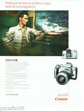 PUBLICITE ADVERTISING  026  2002  Canon appareil photo EOS 300V