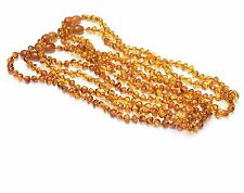 Lot of 5 Wholesale Baltic amber baby cognac baroque Knotted necklace TAD15-15