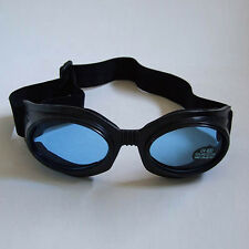 New Cyber Gothic Goth Punk Industrial Anime Raver Blue Lens Black Goggles