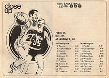 1979 NBA Basketball Tv Ad~Philadelphia 76'ers~Washington Bullets~Elvin Hayes