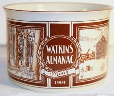 WATKINS ALMANAC SOUP BOWL MARCH 1904 WITH HANDLE MUG CUP STONEWARE FARM  LIFE