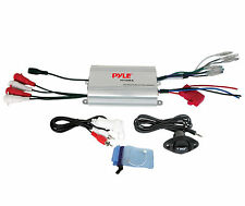 PLMRMP3A PYLE 4 Channel 1200 Watt BOAT ATV MOTORCYCLE AMPIFIER KIT w 3.5mm Input