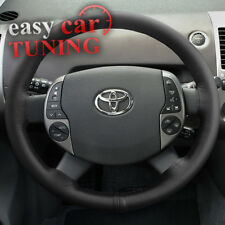 FOR NEW TOYOTA PRIUS XW20 2003-2009 BLACK GENUINE LEATHER STEERING WHEEL COVER