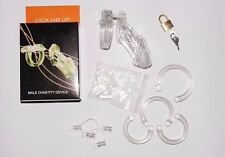 Boxed Male Chastity Belt (CB) Device FULL KIT Lock Number Tags CBT, 6000 mins UK