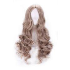 Cinderella Wig Heat Resistent Long Wavy Hair Anime Cartoon Cosplay Party Wigs