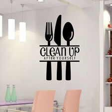 Hot  DIY Clean Up Removable Wall Stickers Vinyl Kitchen Decor Mural Home Decal