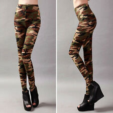 Hot Sale Camo Camouflage Stretch Trousers Pants Leggings for Women Lady