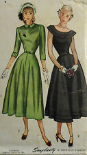 Vtg 40s  50s Day or Evening Party Dress  Pattern Simplicity 2325 Size 11 Bust 29