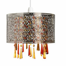Stunning Brass Moroccan Light Shade Pendant  Beaded  Contemporary