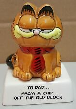 """BB) Vintage Enesco Garfield Cat Dad Father's Day Figurine Statue 4"""" Tall"""