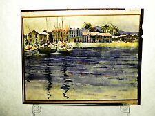 "RARE ""Caribbean BEACH "" GRENADA 4X5 TRANSPARENCY Herbert HERB Ryman DisneyLAND"