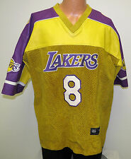 vtg KOBE BRYANT Jeff Hamilton SUEDE Shooting Shirt Jersey XL Lakers leather 90s