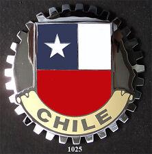 CAR GRILLE EMBLEM BADGES - CHILE(FLAG)