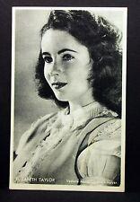 Elizabeth Taylor - Movie Actor Photo Film Autogramm-Karte AK (Lot-I-7100