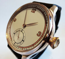 Beautiful Elegant 44mm Art Deco Dial PILOT's 6498 Aviator Vintage Style Parnis