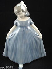 ROYAL COPENHAGEN DANCING GIRL IN BLUE DRESS - 2444