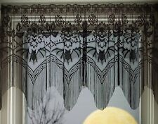 Heritage Lace HALLOWEEN Gala VALANCE 4 Way 60x22 BLACK Made in USA