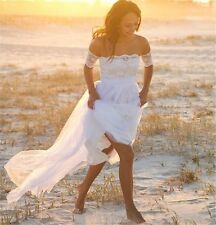 WOMENS CHIFFON BEACH WEDDING DRESS. BRIDAL GOWN. SIZES 2-16. HANDMADE.